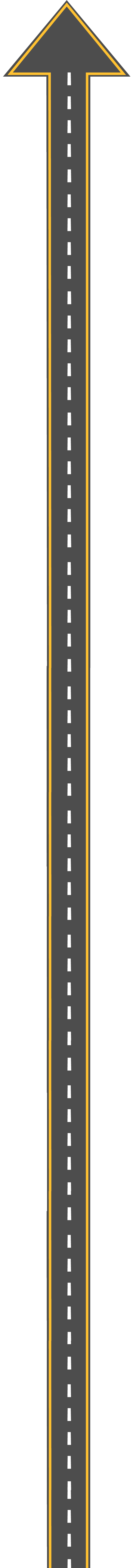 Road with an arrow on top
